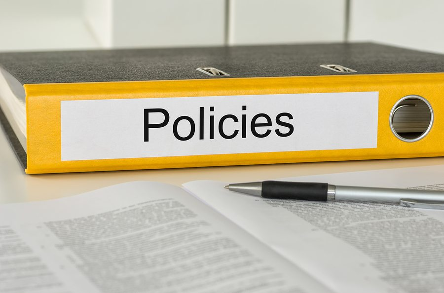 bigstock A yellow folder with the label 66178375 1 - Policies Every Employee Handbook Should Cover