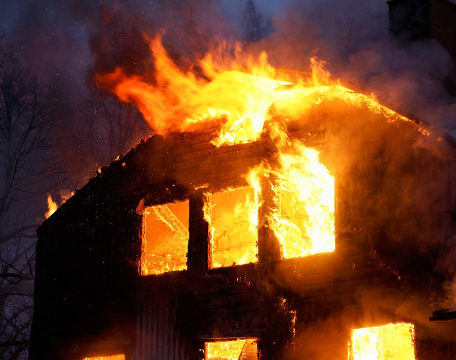 bigstock Wooden House In Flames 3324176 2 - Home Fire Statistics and Prevention